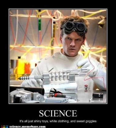 I am a scientist. I study science.